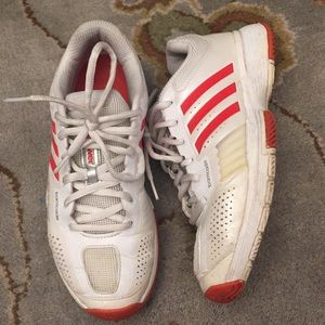 Adidas white tennis shoes sneakers 7.5